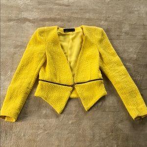 Zara size XS yellow blazer with gold hardware